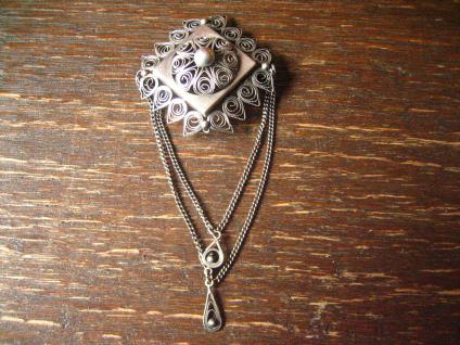 traumhafte Solje Brosche Hochzeitsbrosche 830er Silber Skandinavien tolle Form