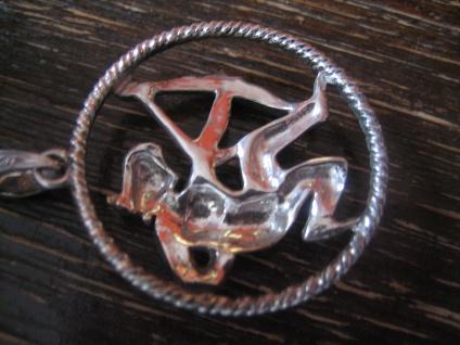 großer Art Deco Markasit Anhänger Sternzeichen Schütze Horoskop 925er Silber - Vorschau 4