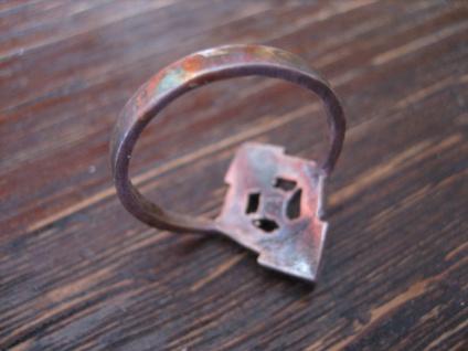 feiner Art Deco Markasit Ring Schiffchenring 925er Silber Markasiten elegant - Vorschau 3