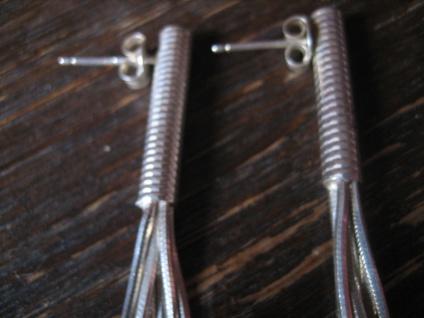 ultralange Statement Ohrringe Hänger 925er Silber 9 cm lang 6 feine Stränge - Vorschau 3