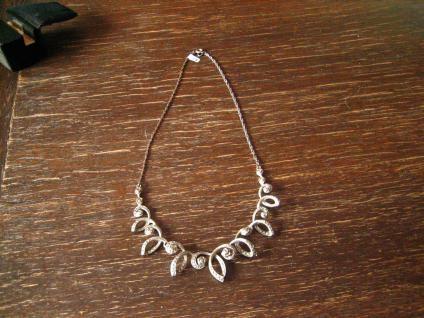 reich verschnörkeltes Art Deco Collier Markasit 835er Silber florale Konzeption - Vorschau 2