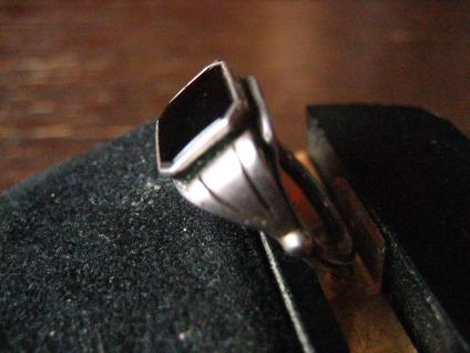 klassisch feiner Art Deco Damen Ring Siegelring Onyx 835er Silber RG 52 16, 5 mm - Vorschau 2