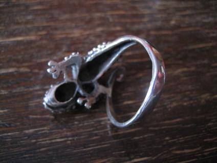 sehr schöner Gekko Waran Echse Ring 925er Silber neu vollplastisch 19 mm RG 60 - Vorschau 4