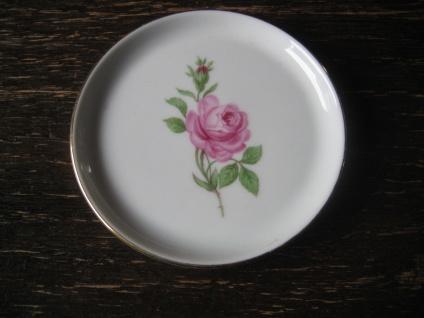 Fürstenberg Porzellan Teller Rose Werbung Reklame Incentiv Rose Schrankbetten