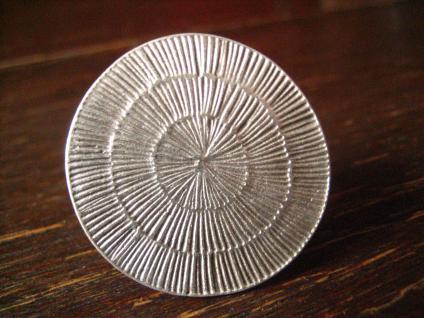 ultracooler Statement Ring Designer Leonardi Arte Boho Ethno alt - silber 3, 5 cm