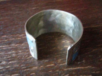 prächtiger Vintage Silber Armreif Armspange Türkis Handarbeit Ethno Berber - Vorschau 4