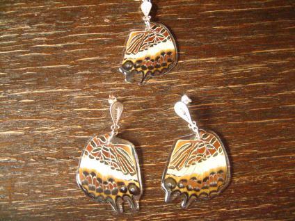 Schätze der Natur Ohrringe Schmetterlingsflügel D 925er Silber Eco Friendly - Vorschau 3