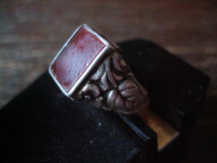 klassischer feiner Art Deco Ring Siegelring Carneol 835er Silber 17, 25 mm RG 55 - Vorschau 3