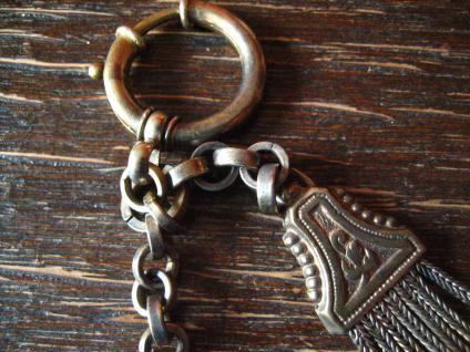 antike Uhrenkette Charivari Chatelaine Adel Wappen Habsburg Lothringen Emaille - Vorschau 4
