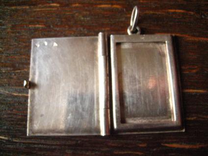 reizendes Art Deco Medallion Art Nouveau Locket 900er Silber für Butzy graviert - Vorschau 2