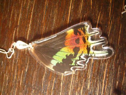 Schatz der Natur Anhänger Schmetterlingsflügel F 925er Silber Kette Eco Friendly - Vorschau 3