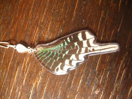 Schatz der Natur Anhänger Schmetterlingsflügel G 925er Silber Kette Eco Friendly