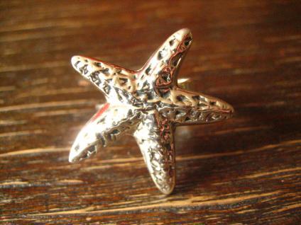 geschmackvoller maritimer Ring Damenring Seestern 925er Silber neu 19 mm RG 60 - Vorschau 2
