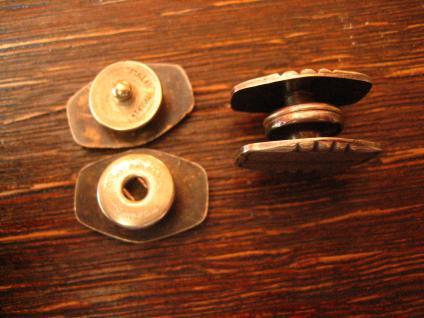 klassisch elegante Art Deco Manschettenknöpfe Wechselknöpfe Schmuckknöpfe silber - Vorschau 3