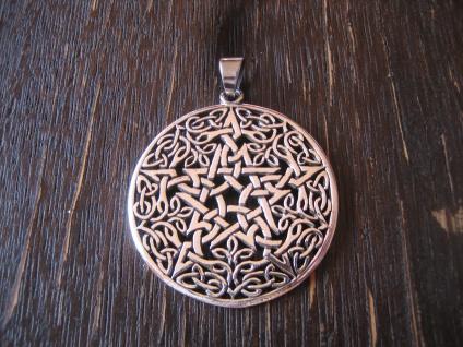 großer geschmackvoller Anhänger Amulett Drudenfuß Pentagramm 925er Silber neu