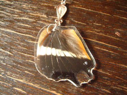 Schatz der Natur Anhänger Schmetterlingsflügel D 925er Silber Kette Eco Friendly - Vorschau 2