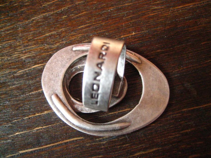 klassischer Statement Ring mit Pfiff Designer Leonardi Arte silber verstellbar - Vorschau 3