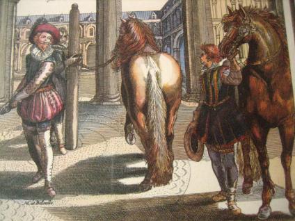Antoine De Pluvinel Barock Reiten Bild Kupferstich colorierter Stich gerahmt 26 - Vorschau 2