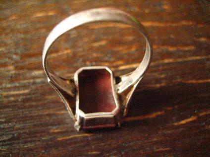 klassischer feiner Art Deco Ring Siegelring Jaspis 835er Silber 18 mm RG 57 - Vorschau 5