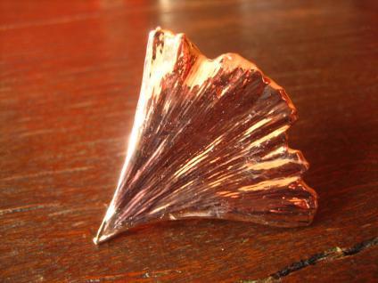 Schätze der Natur edler Gingko Ginkgo Ring rotgold neu Handarbeit verstellbar