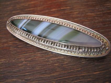 Art Deco Brosche 935er Silber grüner Achat Toni Riik Kunstgewerbliche Werkstätte - Vorschau 2