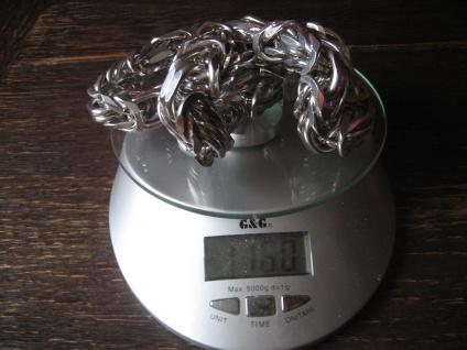 Ultra fette super geile Königskette 925er Silber Kette Vierkant 18x18 mm 1160 g - Vorschau 4