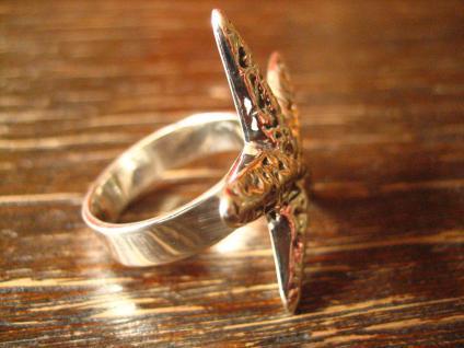 geschmackvoller maritimer Ring Damenring Seestern 925er Silber neu 19 mm RG 60 - Vorschau 3