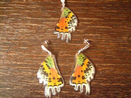 Schatz der Natur Anhänger Schmetterlingsflügel F 925er Silber Kette Eco Friendly - Vorschau 4