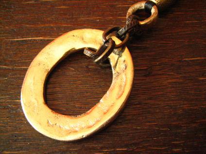 angesagte ultra coole Statement Collier Kette Designer Leonardi Arte bronze gold - Vorschau 3