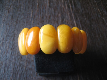 prächtiger Bernstein Armreif Armband Egg Yolk Amber Bracelet 2, 5 cm Zertifikat