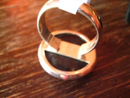 eleganter Designer Ring Onyx Druse 925er Silber schwarz rund Unikat alle Größen - Vorschau 4