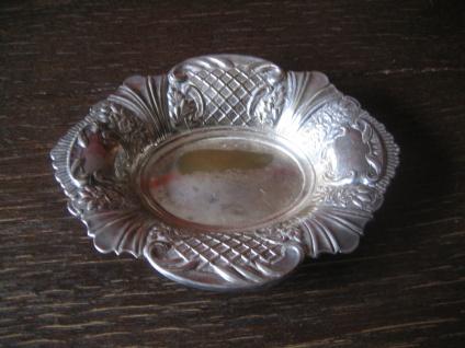 reich verzierte Schale Schälchen Anbietschale Konfektschale Silber pl Sheffield