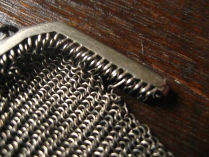 ausgefallene Jugendstil Geldbörse Silber Geldbeutel Täschchen Kettentasche 800er Silber - Vorschau 4