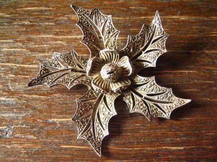 große Art Deco Markasit Brosche Weihnachtsstern Stern Blume Blüte 835er Silber - Vorschau 1