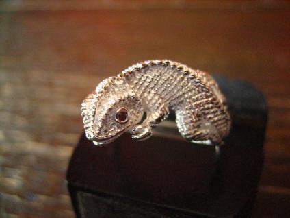 geschmackvoller Chamäleon Ring 925er Silber neu vollplastisch 19 mm RG 60