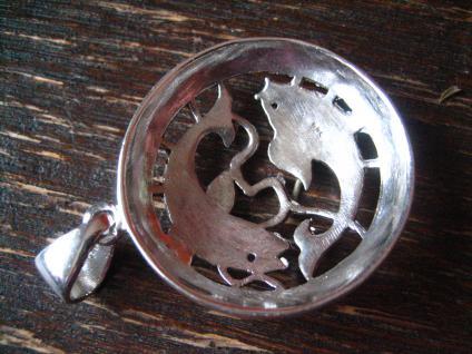wunderschöner Markasit Anhänger 2 Goldfische Koi Karpfen 925er Silber Horoskop - Vorschau 4