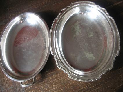 elegante Servierschale Schale Haube Deckel Griffe tolle Form silber pl Sheffield - Vorschau 3