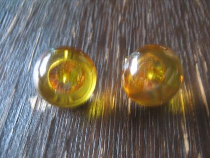 zeitlose Bernstein Ohrringe Stecker Ohrstecker 16 mm 925er Silber gold Neu