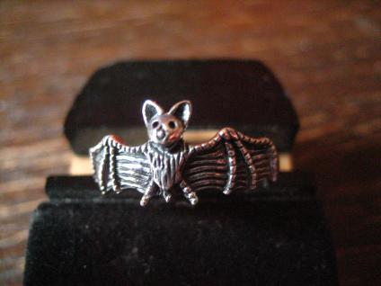 hübscher zierlicher Fledermaus Ring 925er Silber neu et Nox RG 62 19, 5 mm Krafttier
