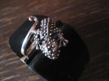 sehr schöner Gekko Waran Echse Ring 925er Silber neu vollplastisch 19 mm RG 60 - Vorschau 3