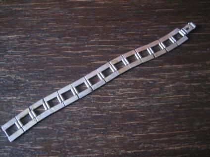 edles breites Art Deco Armband schlicht elegante Form 835er Silber 18, 5 cm lang - Vorschau 4