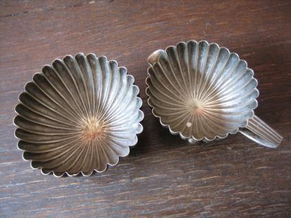 prächtiges 4tlg Bachelor Teeservice Tea Set Ständer Queen Anne silber pl um 1880 - Vorschau 3