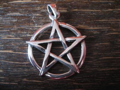 klassischer Anhänger Amulett Drudenfuß Pentagramm Pentakel 925er Silber neu
