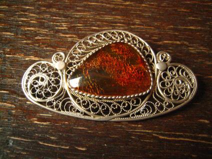 atemberaubende atemberaubende Bernstein Brosche feinste Filigranarbeit handmade Amber brooch