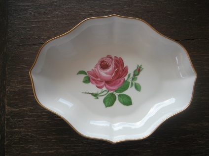 Hutschenreuther Maria Theresia Rote Rose große Anbietschale Porzellan Schale