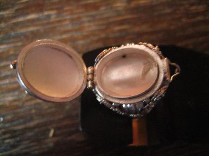 prächtiger Giftring Mondstein Ring zum Öffnen 925er Silber reich verziert RG 60 - Vorschau 3