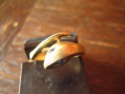 Schlangen Ring Krafttier Schlange 585er Gold 18 mm zeitlos und edel - Vorschau 2