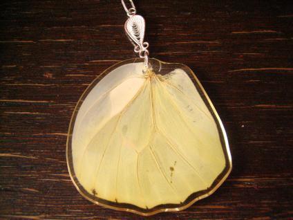 Schätze der Natur Anhänger Schmetterlingsflügel 925er Silber Kette Eco Friendly - Vorschau 2