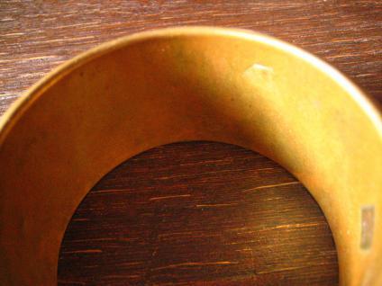 prächtiger Bronze Messing Armreif 3, 8 cm breit Afrika Ethno Boho sehr schwer - Vorschau 5