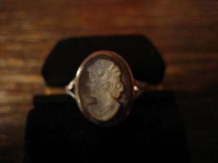 zierlicher Jugendstil Ring Kamee Cameo Gemme 800er Silber Handarbeit Unikat G 52